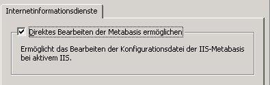 IIS-Metabase freigeben