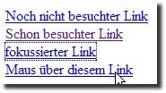 Links im Browser